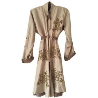 Chan Luu Embroidered Silk Kimono Style Jacket/Top