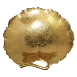 William Yeoward Geranium Gold Leaf Dish by William Yeoward