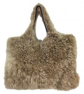 Brunello Cucinelli Mongolian Sheep Fur Bag
