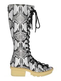 3.1 Phillip Lim python print leather Boots