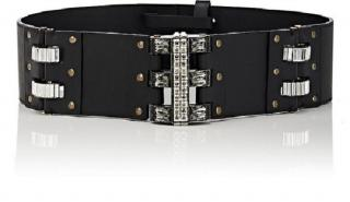 Lanvin Leather Belt with Crystals
