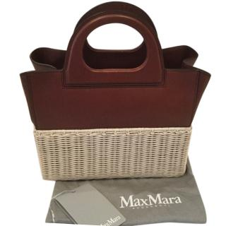 Max Mara Wicker and Leather Bag