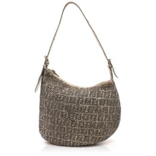 Fendi Monogram Beaded Saddle Bag