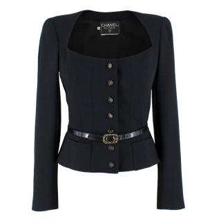 Chanel Wool-Blend Lightweight Tailored Blazer