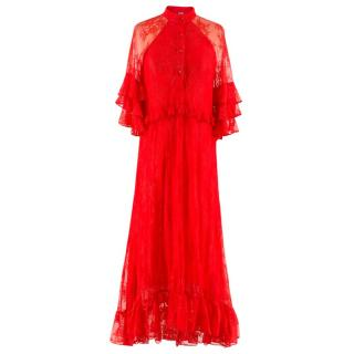 Dodo Bar Or Rossano Ruffle Lace Dress