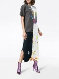 Conner Ives Reconstructed T-Shirt Dress