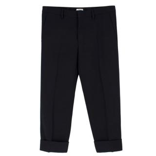 Miu Miu Wool Cropped Trousers