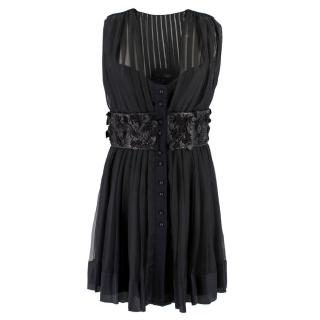 Louis Vuitton Pleated Silk Dress
