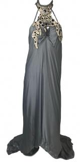 YSL Couture Silver Grey Evening Gown