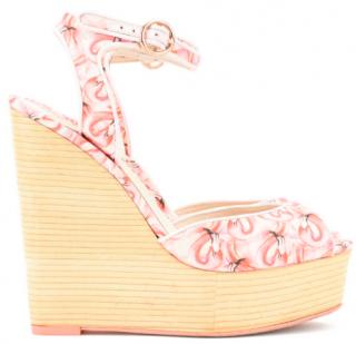Sophia Webster Flamingo Lula Wedge Sandals