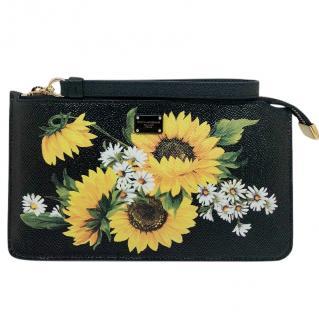 Dolce & Gabbana Sunflower & Daisy Print Clutch