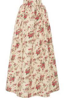 Miu Miu floral print silk-faille maxi skirt