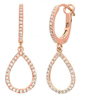 NAAVA Diamond 9ct Rose Gold Earrings