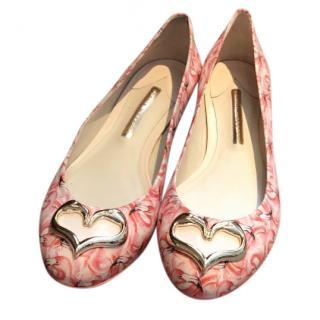 Sophia Webster flamingo ballet flats