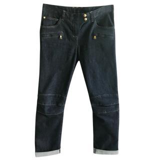 Balmain dark blue boyfriend jeans