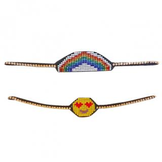 Vanessa Arizaga Rainbow & Emoji choker / Necklace