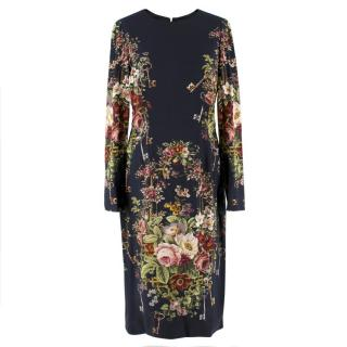 Dolce & Gabbana Floral Midi-Length Dress