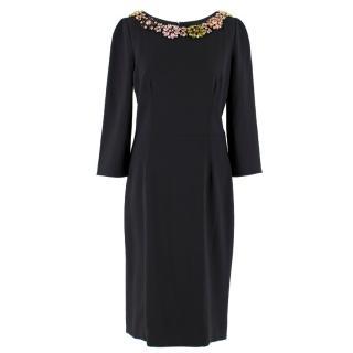 Dolce & Gabbana Black Crystal Embellished Dress