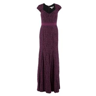 Diane Von Furstenberg Purple Lace Dress