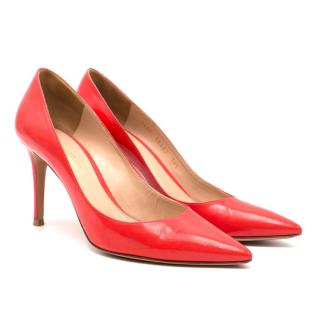 Gianvito Rossi Coral Leather Heels