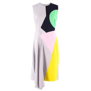Roksanda Colour-Block Silk Dress
