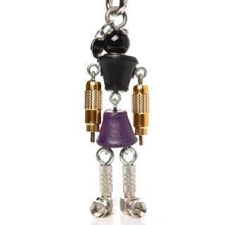 Prada Saffiano Robot Trick Keychain