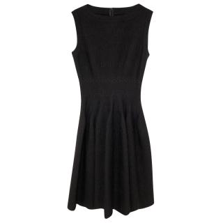 Alaia Sleeveless Black Knit Dress