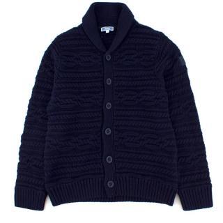 Jacadi Kids Navy Button-Up Knit Sweater