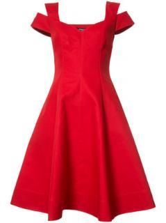 Paule Ka Red Flared Dress