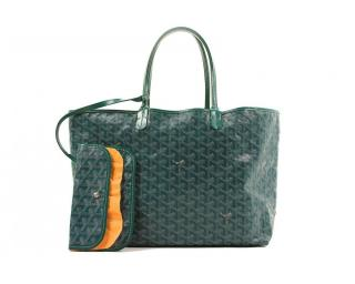 Goyard St.Louis with Pouch Green Tote bag