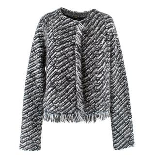 Maje Textured Knitted Jacket