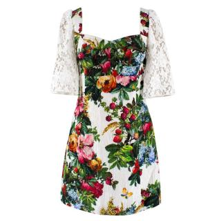 Dolce & Gabbana Multi-Colored Floral Print Dress