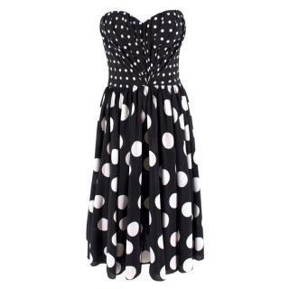 Dolce & Gabbana Black and White Polkadot Dress