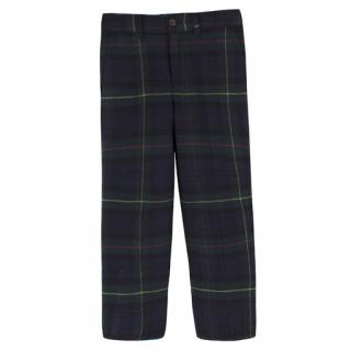 Ralph Lauren Polo Kids Tartan Wool Trousers