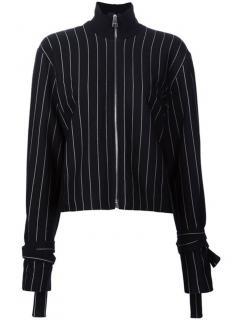J W Anderson black pinstripe straps jacket