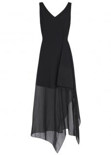 Theory Dahama Black Asymmetric Dress