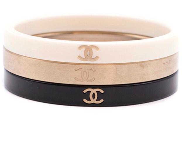 Chanel set of 3 bangles