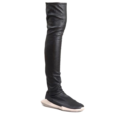 timeless design 5b894 fa374 Rick Owens X Adidas Leather stretch runner boots