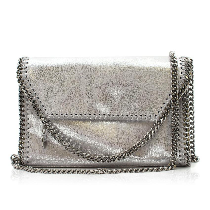 Stella McCartney Silver Foldover Falabella Bag
