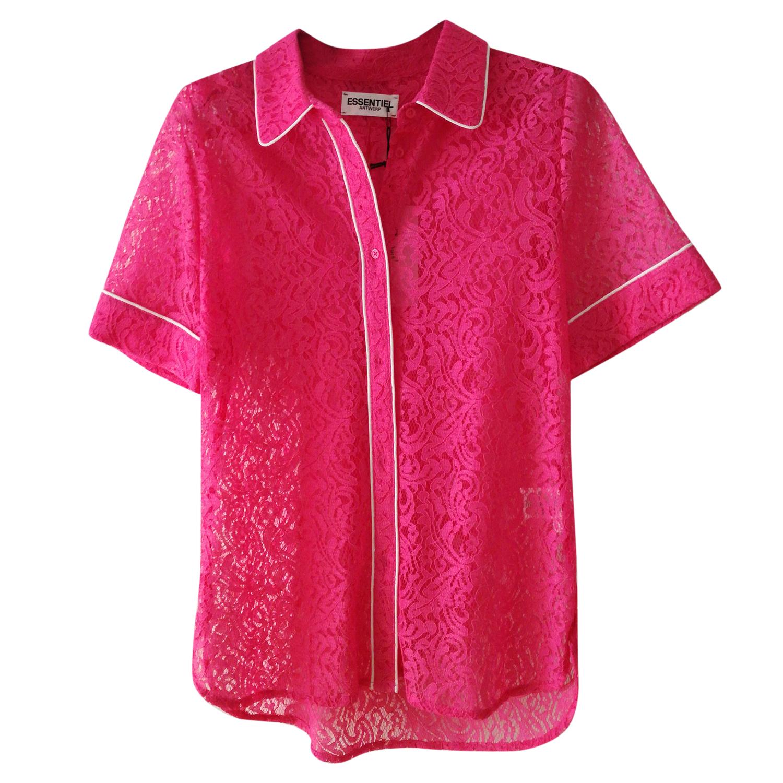 Essentiel Antwerp lace piped shirt