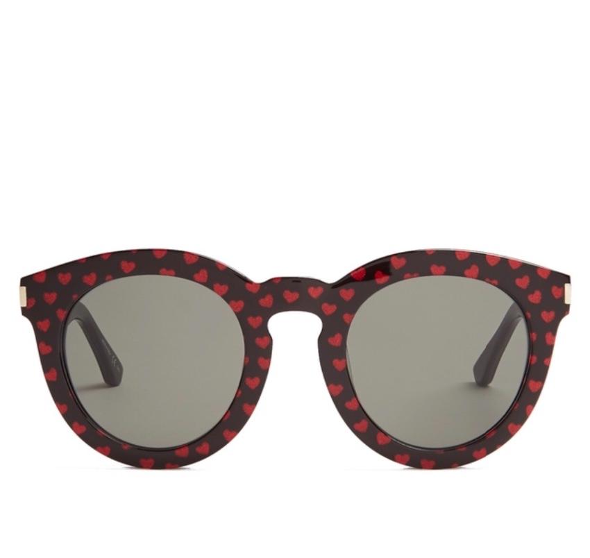 2f5072554008 Saint Laurent Heart Printed Sunglasses