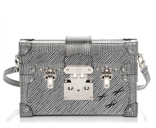 681ebd5178f Louis Vuitton Metallic Silver Petite Malle Noir Epi Shoulder Bag   HEWI  London