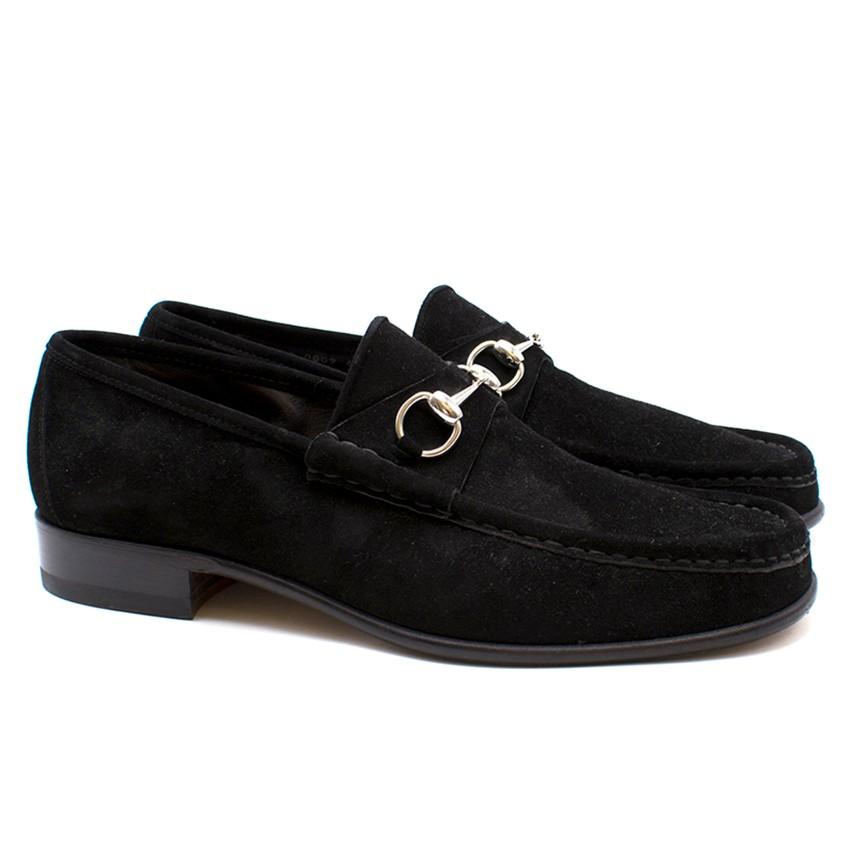 Gucci Men's Suede Horsebit Loafers