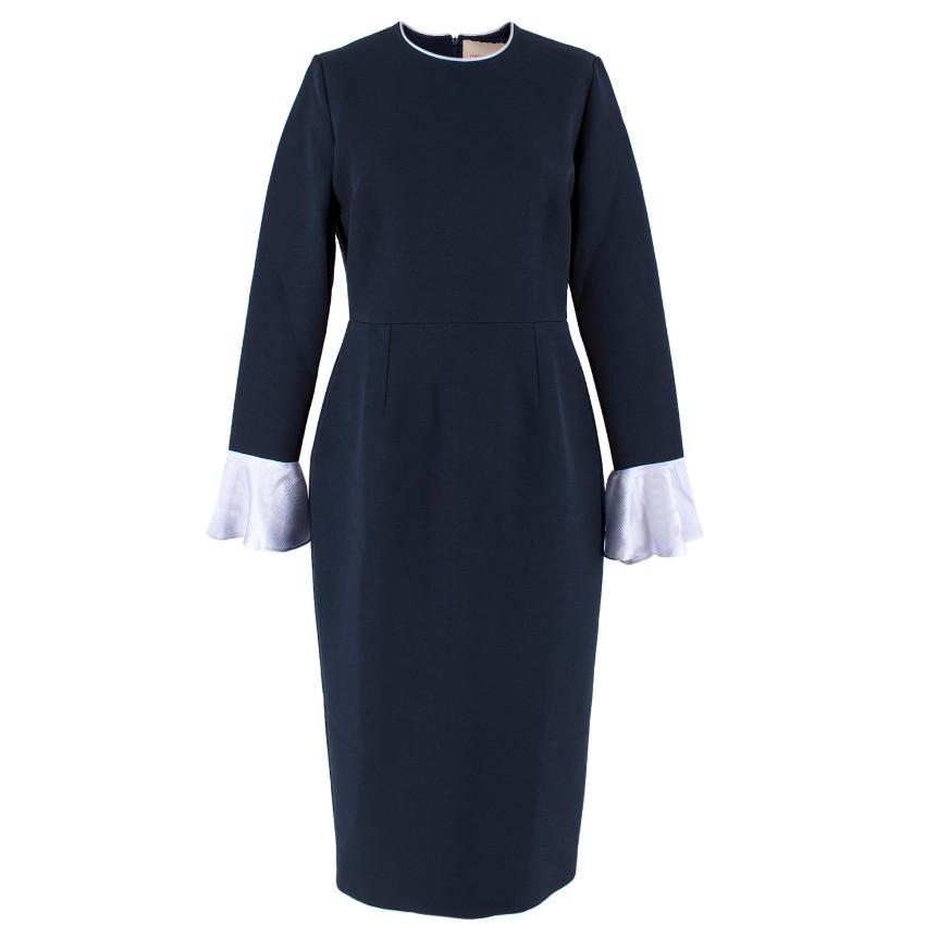 Roksanda Ruffle Cuff Midi Dress