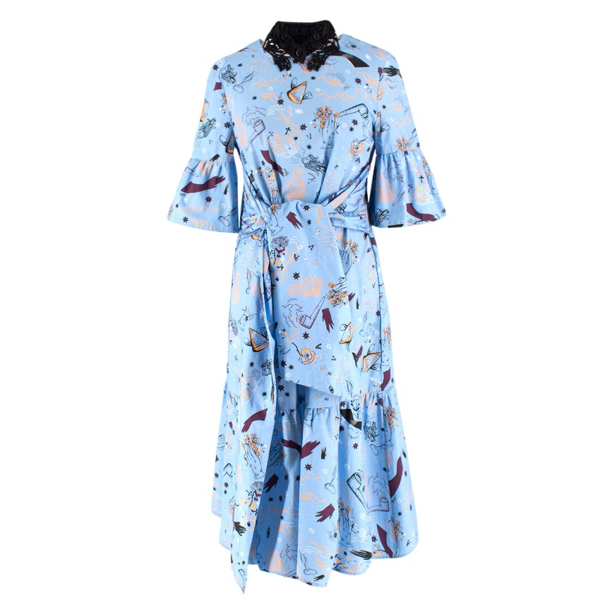 Vivetta Printed Drop Waist Dress