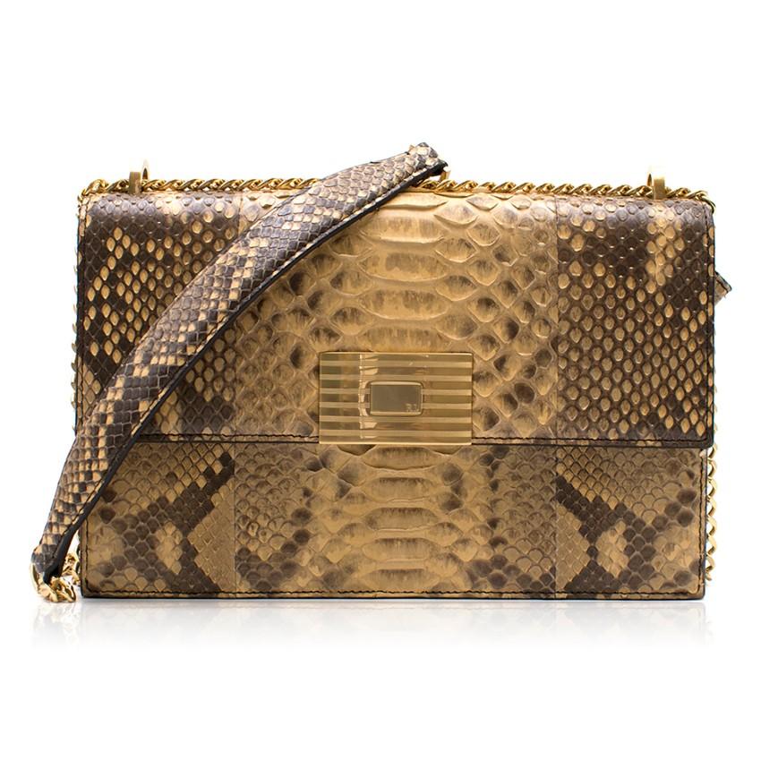 e7fc6b27ffbc Ralph Lauren Python Rl Chain Bag