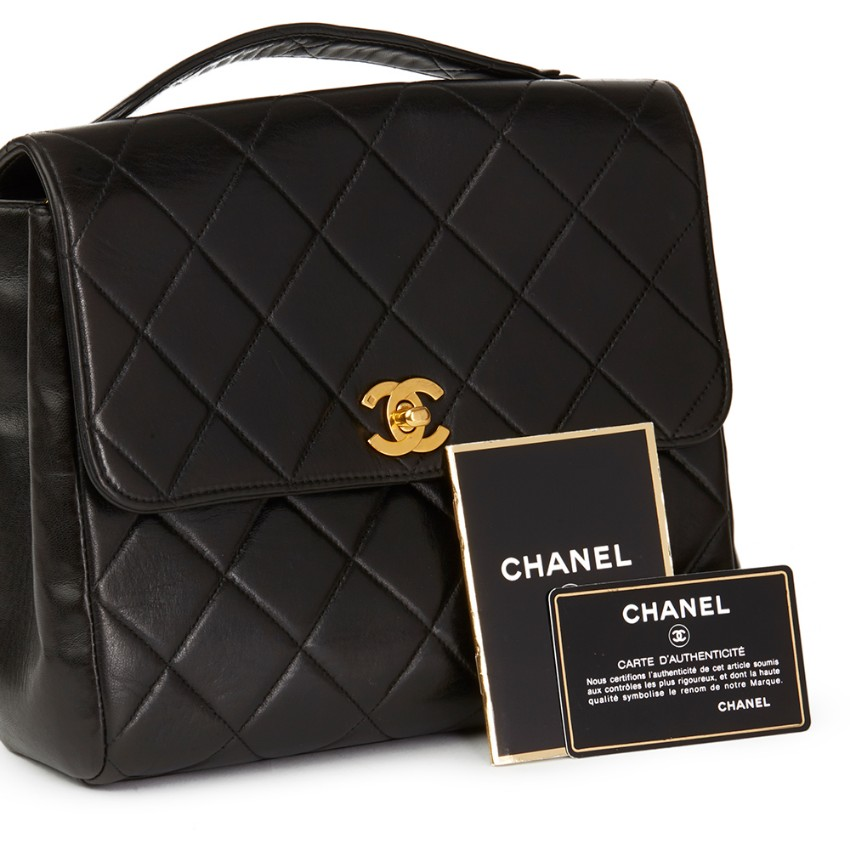 5ff466adc3e5be Chanel Black Quilted Lambskin Vintage Classic Single Flap Bag 6 | HEWI  London