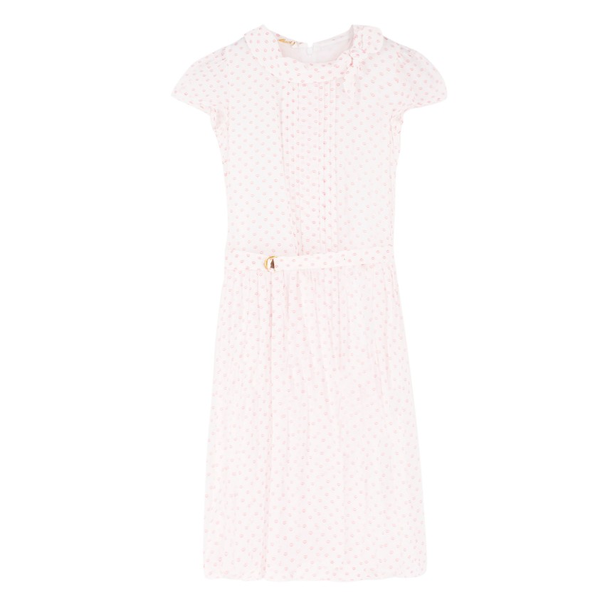 Gucci Girl's White Patterned Dress