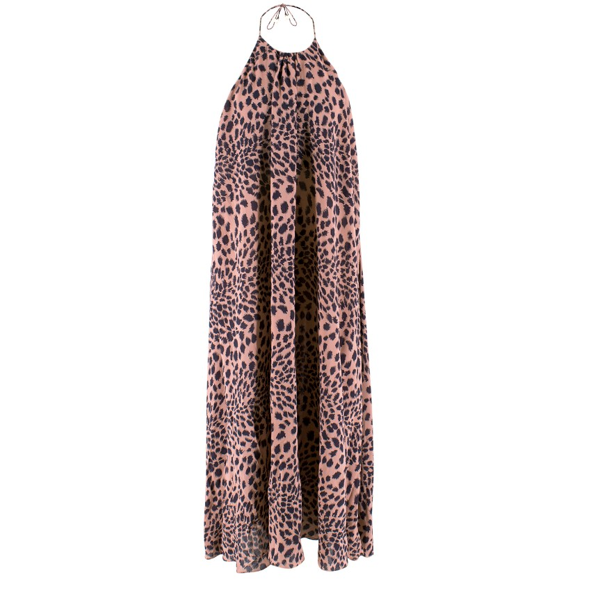 Zimmerman Leopard Print Halterneck Dress. 12345678910 dab5c4ebe