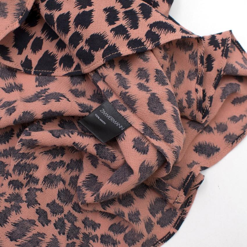 Zimmerman Leopard Print Halterneck Dress. 32. 12345678910 04184106a